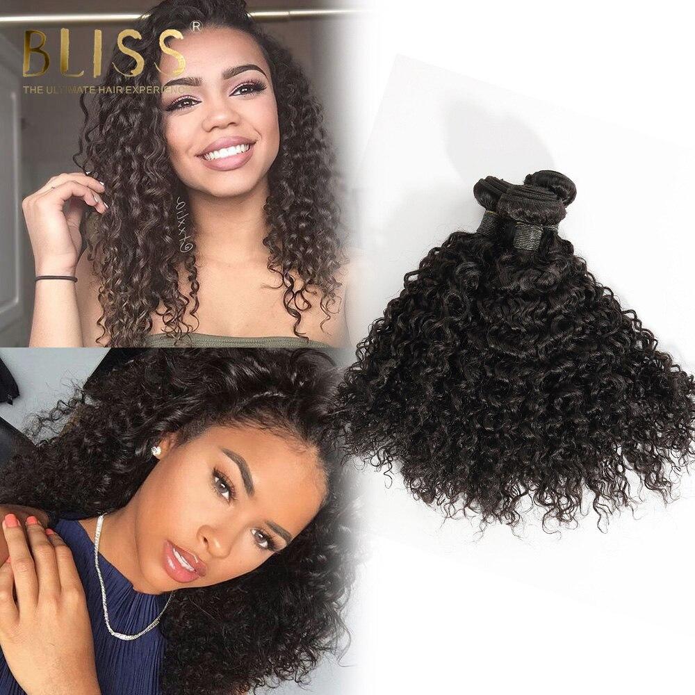 Bliss Hair Brazilian Mongolian Curl Human Hair 3 bundles Hair Weave Bundles 8inch-32inch Natural Color Free Shipping Remy Hair