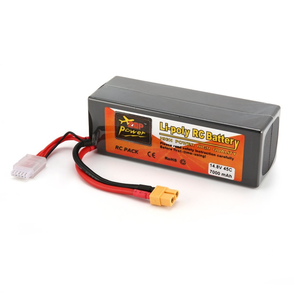 ZOP Power 14.8V 7000mAh 45C 4S 1P Lipo Battery XT60 Plug Rechargeable for RC Racing Drone Quadcopter Helicopter Car Boat ModelZOP Power 14.8V 7000mAh 45C 4S 1P Lipo Battery XT60 Plug Rechargeable for RC Racing Drone Quadcopter Helicopter Car Boat Model