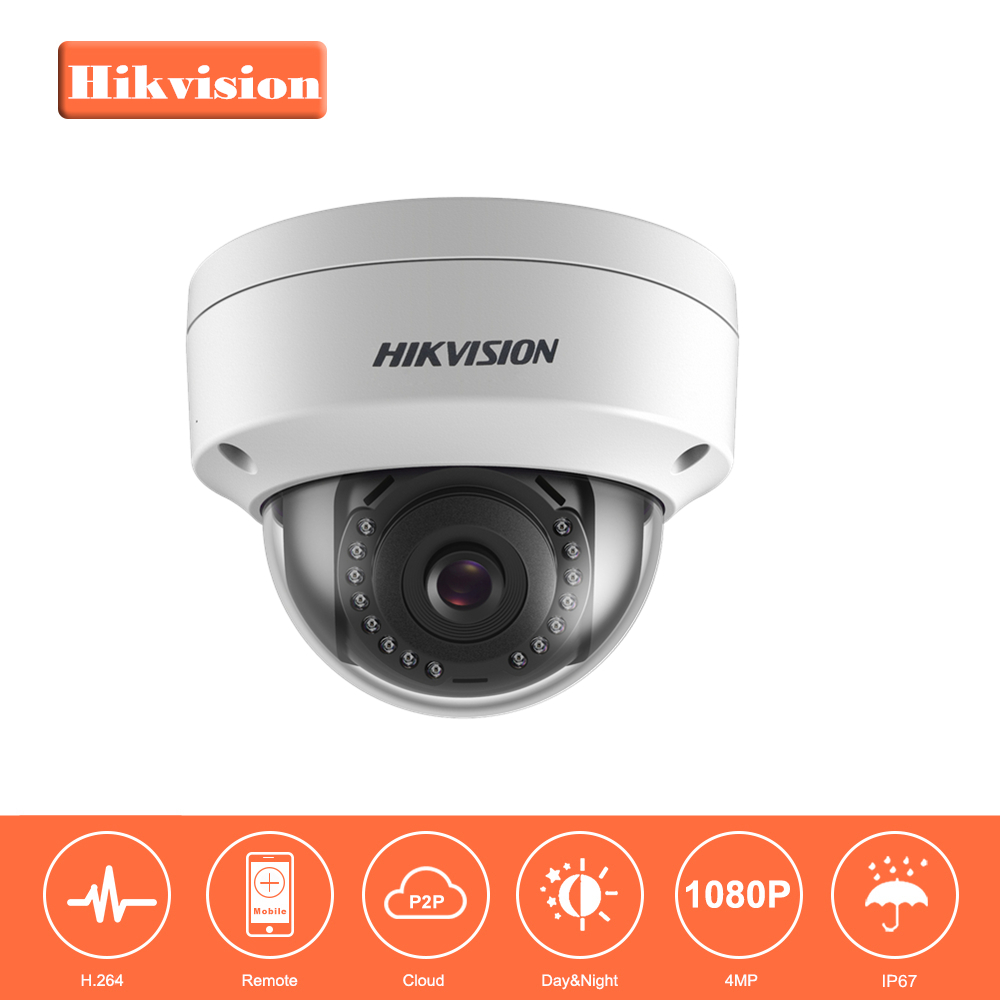 In Stock Hikvision Full-HD 1080P Security IP Camera DS-2CD1141-I 4 Megapixel CMOS CCTV Dome Camera PoE Replace DS-2CD3145F-I original hikvision 1080p waterproof bullet ip camera ds 2cd1021 i camera 2 megapixel cmos cctv ip security camera poe outdoor