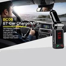 2015 горячие ЖК-дисплей Дисплей Bluetooth-гарнитуры для авто комплект MP3 FM передатчик USB SD Зарядное устройство громкой связи популярный комплект 6WG5