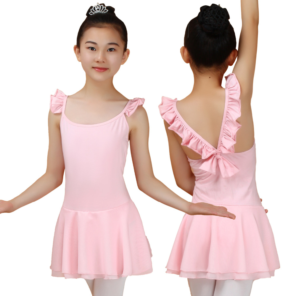 2016 Ballerine Dress Girl Gymnastics Leotard Discount Child Summer Tutu Dancewear Trikot Ballet Dress Purple/Pink/Rose For Sale