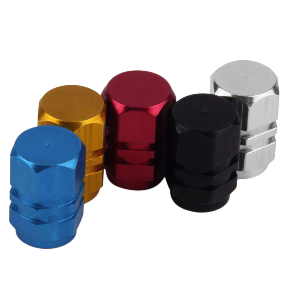 2017 4pcs/pack motorcycle bicycle wheel tire valve cap Theftproof Aluminum Car Wheel Tire Valves Tyre Stem Air Caps free ship