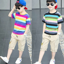 New Summer Boys Clothing Sets Children T-shirt Short Sleeve +Pants Set Two Pieces Set Kids