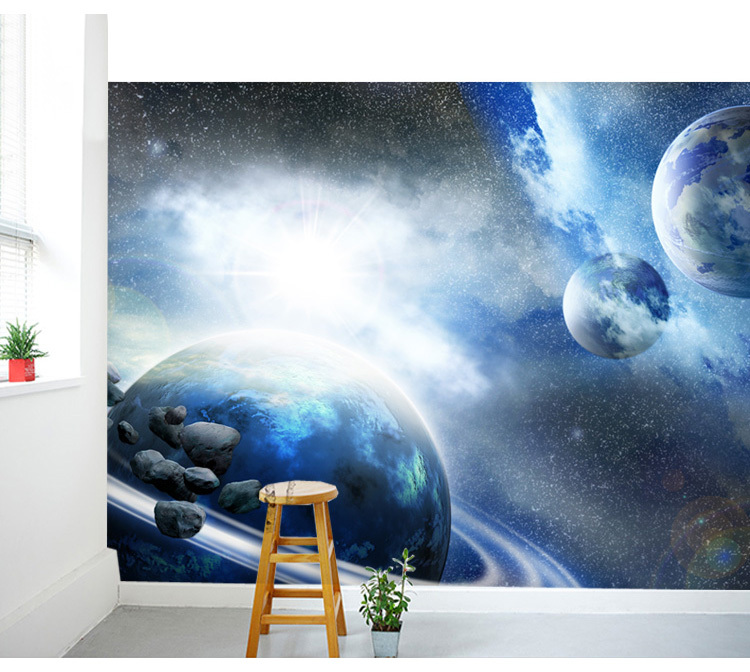 Free Shipping Large Space Nebula Star Personalized 3D Wallpaper murals living room bedroom ceiling wallpaper KTV bar wallpaper  free shipping purple nebula wallpaper children s room living room tv sofa bedroom ceiling decoration star globe wallpaper mural
