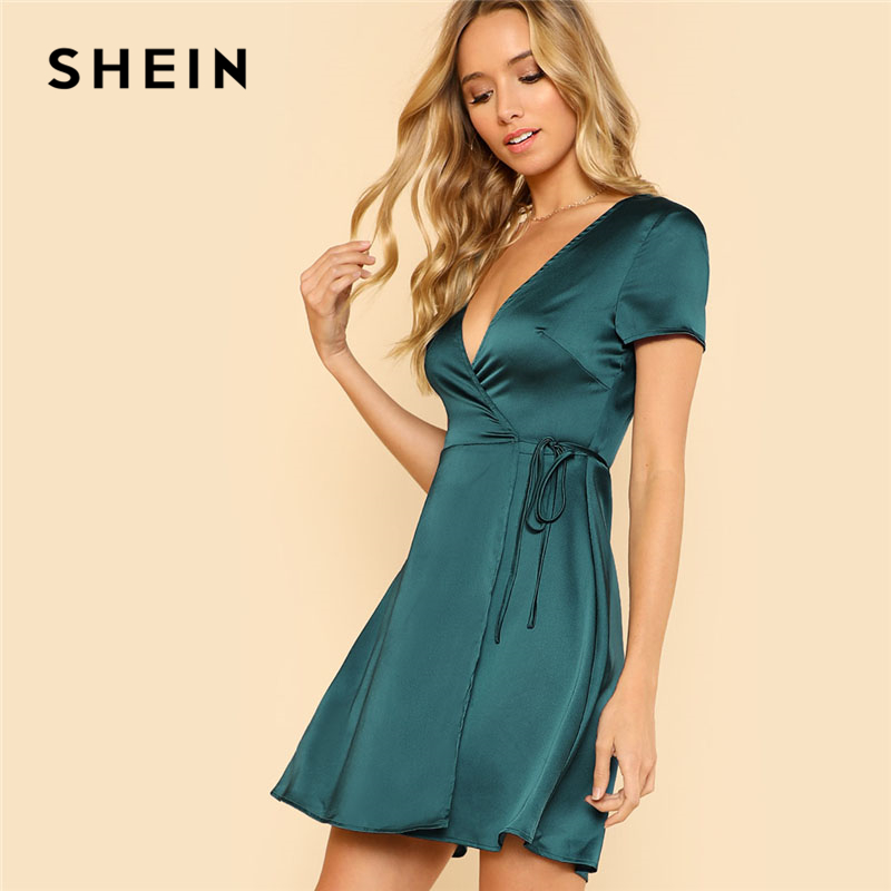 8d9167b01db SHEIN Multicolor Allover Floral Print Ruffle Hem Textured Dress Elegant  Casual Fit and Flare Dresses Women ...