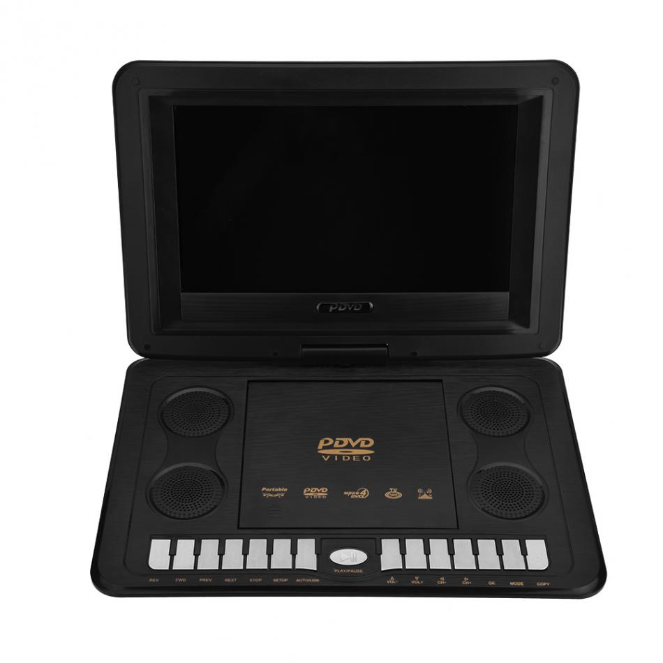 13 8inch Portable DVD Player 270 Degree Rotation 800 480 Resolution Screen Support SVCD VCD CD