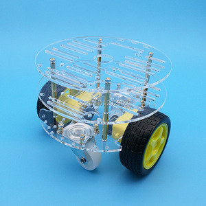 Image 3 - 1set 2WD Smart Robot Car 3 Layer Acrylic Chassis Kits with Speed Encoder For Arduino Promotion Free Shipping