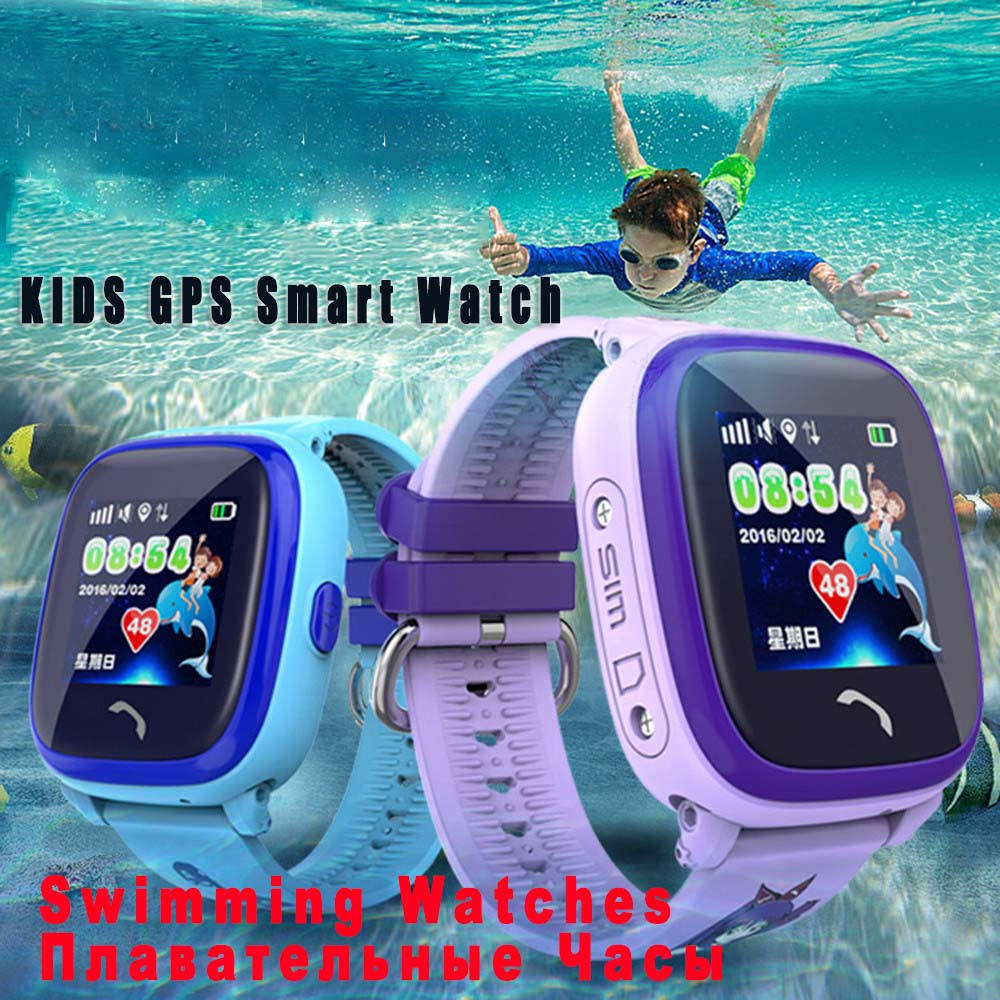 Baby CLOCK Watch Tracker DF25 Children Waterproof SOS Swim 1PCS Devices Location Wearable