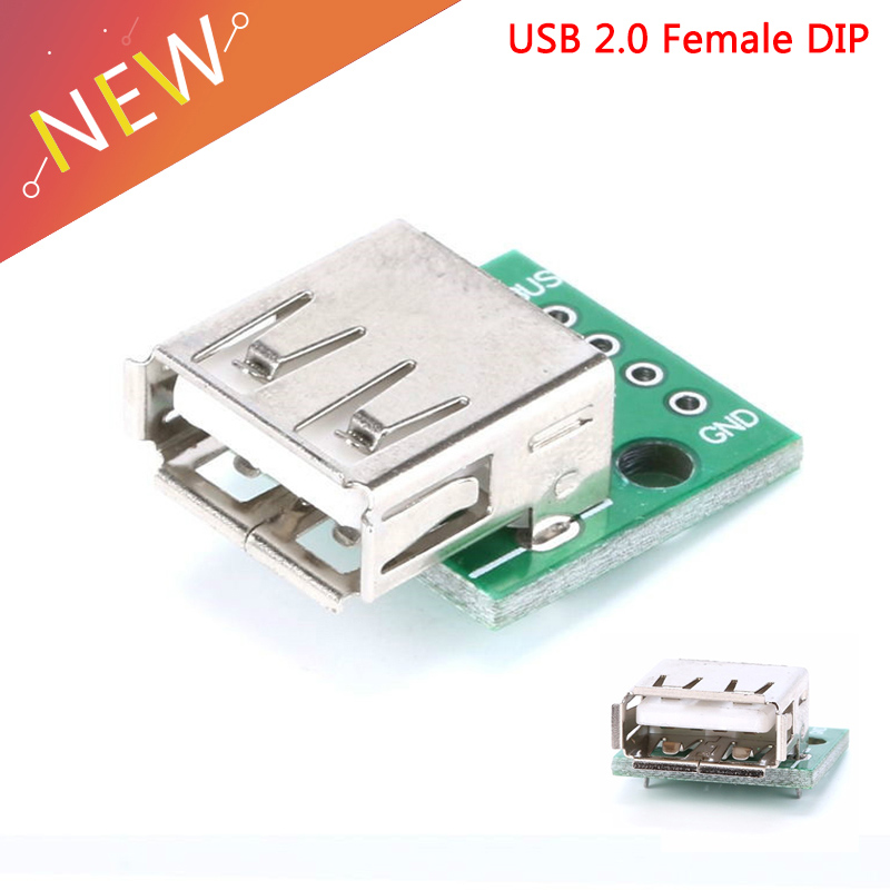 3 PCS Type A Female USB To DIP Adapter Converter For Arduino 2.54MM PCB Board