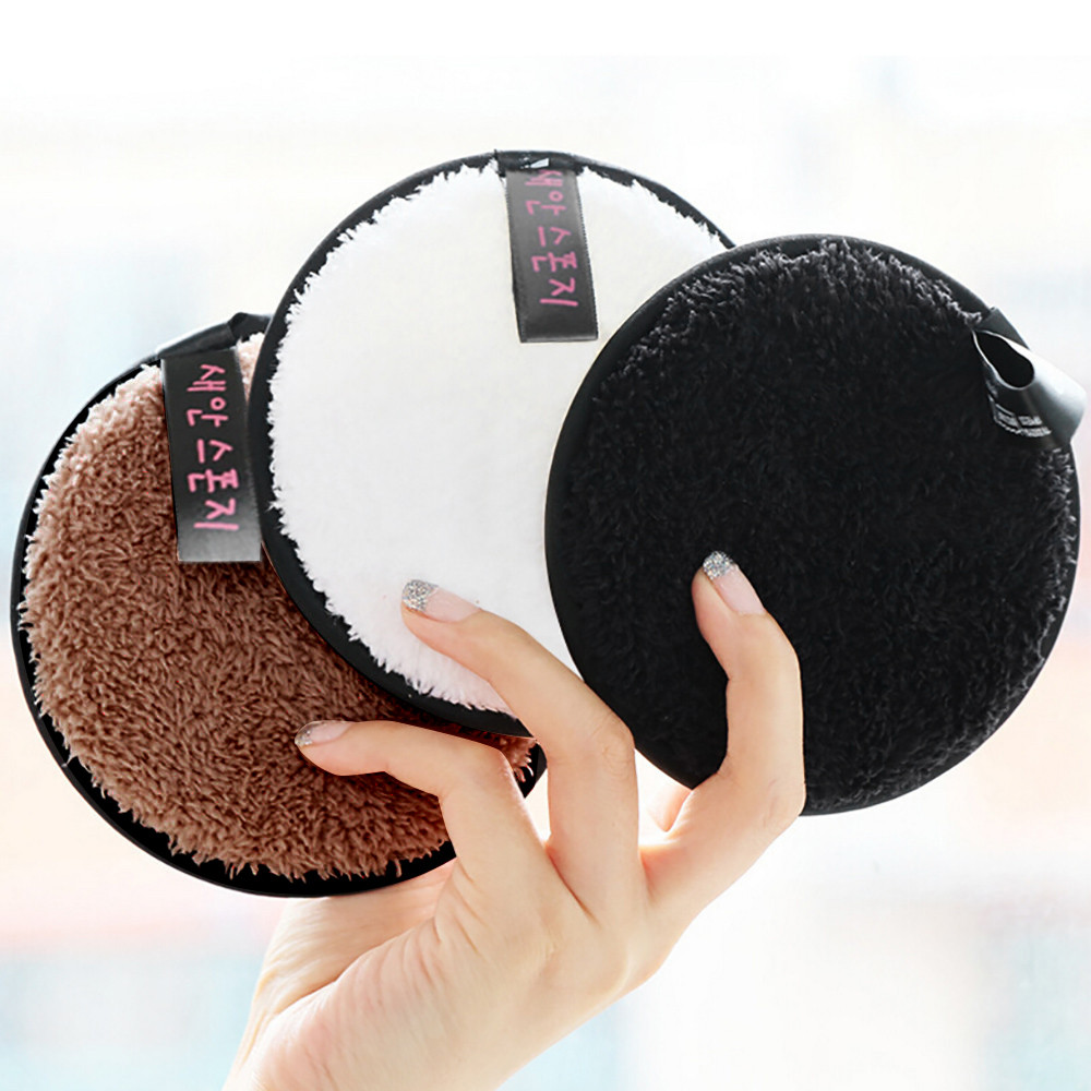 Cosmetic Puff Cooperative Microfiber Cloth Pads Remover Towel Face Cleansing Makeup Sponge Container Make Up Sponge Sponge Stand Powder Puff Case Attractive Designs;