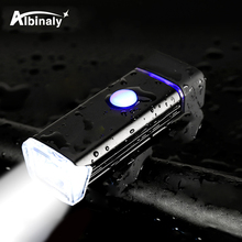USB charging bicycle light 4 lighting mode LED bike light portable waterproof easy to install night riding bicycle accessories usb charging led bicycle light 5 light mode highlight waterproof warning bike light to send free usb cable suit for night riding