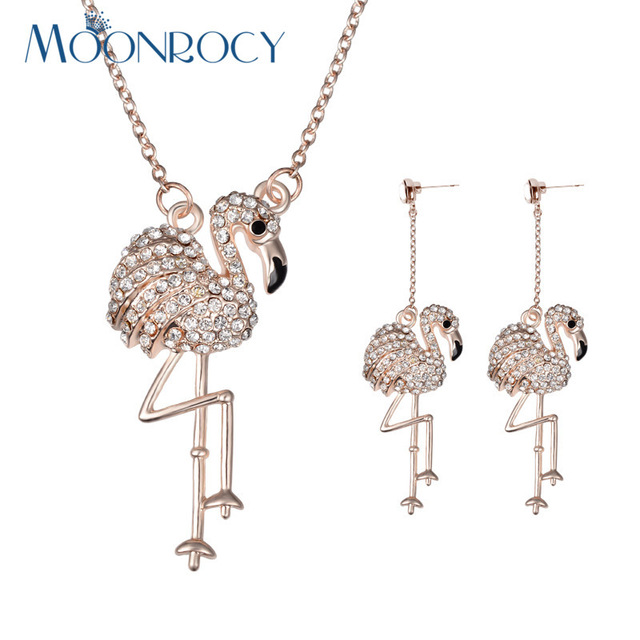 Aliexpresscom Buy MOONROCY Free Shipping Fashion Crystal Necklace
