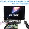10.1 дюймов 1280*800 Емкостный Сенсорный Экран IPS LCD Модуль Монитора дисплей Автомобиля HDMI USB VGA AV Raspberry Pi 3 пульт дистанционного управления