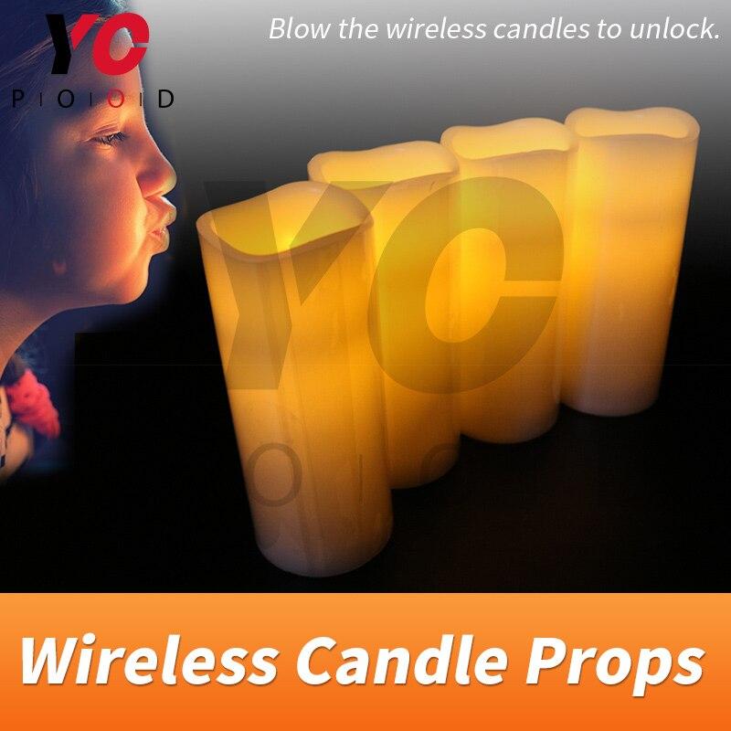 Bougies sans fil Prop YOPOOD évasion salle souffler sur ou dehors les bougies avec ou sans ordre d'échapper à la chambre chambre takagisme jeu
