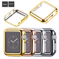 Original 38mm 42mm 3 Points Stainless Steel Strap Gold Plated Protective Case Cover Watch Bands for Apple Watch