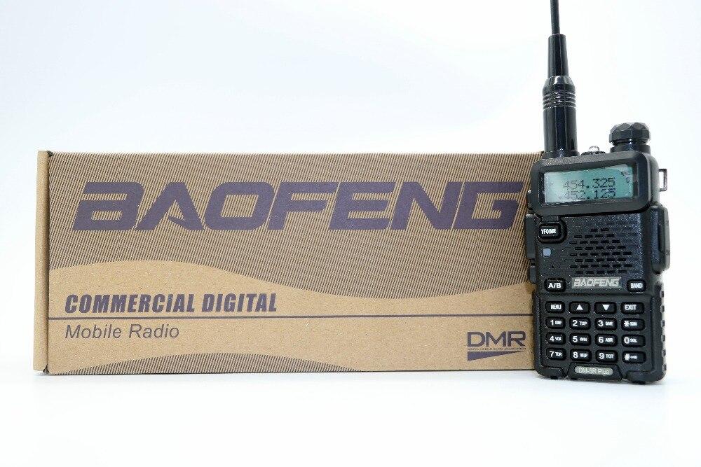 2 pcs Baofeng DM-5R Plus Portable Radio VHF UHF Double Bande DMR Numérique Anolog double mode 5 W 128CH Talkie Taklie DM5R + émetteur-récepteur
