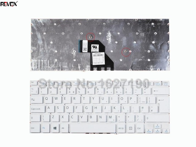 New UK Keyboard Laptop For SONY SVF 14 White Without FRAME,Win8 ...