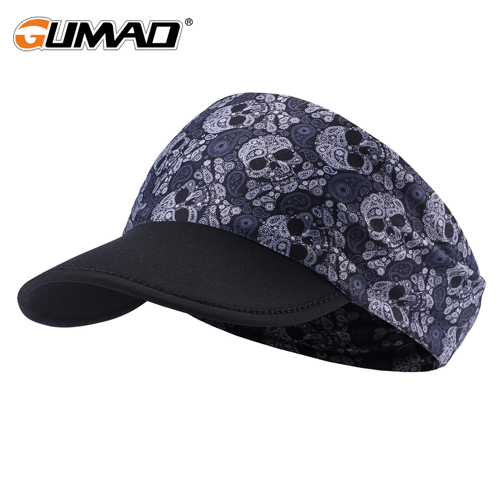 Outdoor Soft Brim Sun Visor Running Cap Summer Anti UV Sport Hiking Tennis Beach Empty Top Hat Headscarf Headband Women Men