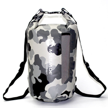 20L Camouflage Waterproof Backpack Bag Waterproof Bag Dry Bag Outdoor Sports Camping Storage Kayak Rafting River Trekking Bags