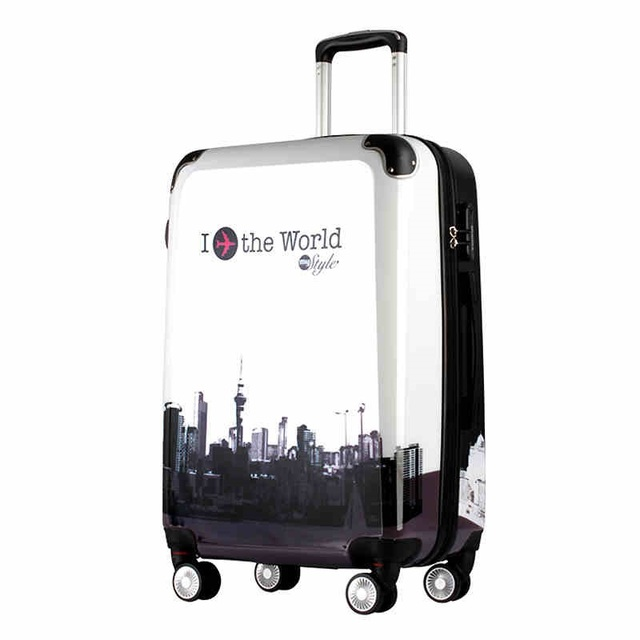 """20""""24 inch Fashion ABS+PC hardside rolling Luggage koffers trolleys spinner Travel Suitcase i the word logo"""
