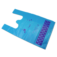 DHL Wholesale Multi Size Blue Handle Packaging Bags For Supermarket Shopping Portable Plastic Shopping Vest Bag