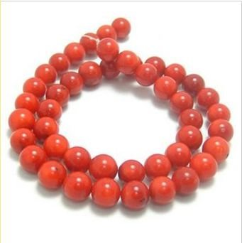 8mm natural red coral beads fashion jewelrydiy accessory components50pcs/lot wholesale free shipping natural product