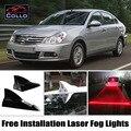 Livre Instalação de Luzes de Advertência Para Nissan Almera N16 N17 G11 Saloon Energia solar/Energia solar de Barbatana de Tubarão luz de Nevoeiro da Decoração Do Carro Do Laser LEVOU