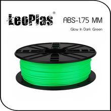 Worldwide Fast Express Within 7 Days Direct Manufacturer 3D Printer Material 1kg 2.2lb 1.75mm Glow In Dark Green ABS Filament