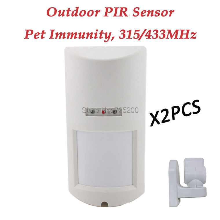 2pc/lot 433MHz Outdoor PIR Sensor Waterproof Pet Friendly Motion Detector for Secrui 8218G,G15,G18,G19,M2FX,M2E,GS-G90B,G90E pc pet 600d 15 4