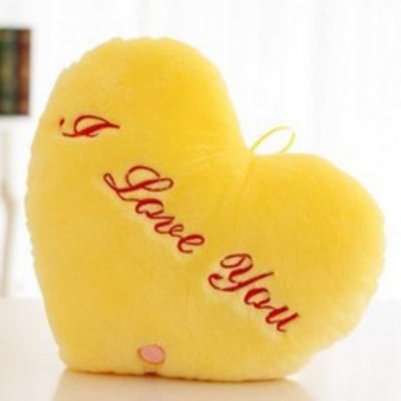 Светодиодный горячий светящаяся Подушка Звезда Подушка с надписью красочная светящаяся плюшевая кукла-подушка легкие игрушки подарок для девочки День Святого Валентина плюс