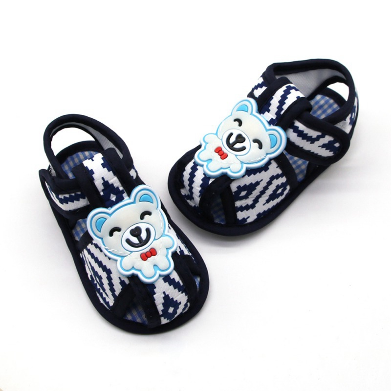Summer Baby Boy Sandals Gentleman Bear Baby Sandals Cotton Soft Bottom Shoes Baby Toddler Shoes