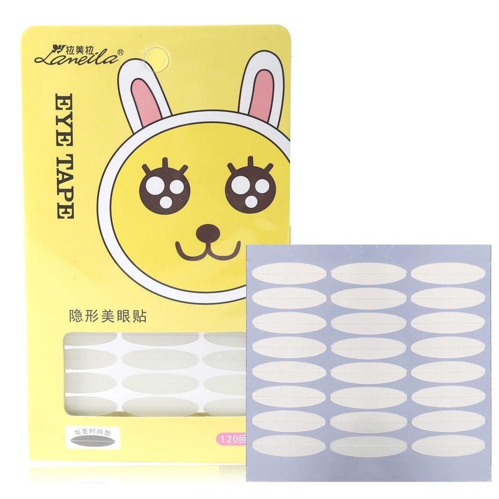 LAMEILA 120Pair SET Clear White Eyelid Stripe Big Eyes Invisible Double Fold Eyelid Shadow Sticker Double