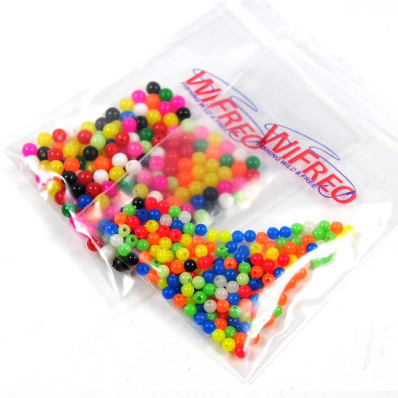 Wifreo 200PCS Multiple Color Mixed Fishing Rigging Plastic Beads Stops for Lure Spinners Sabiki DIY 4mm 5mm 6mm 8mm 200pcs mixed botany