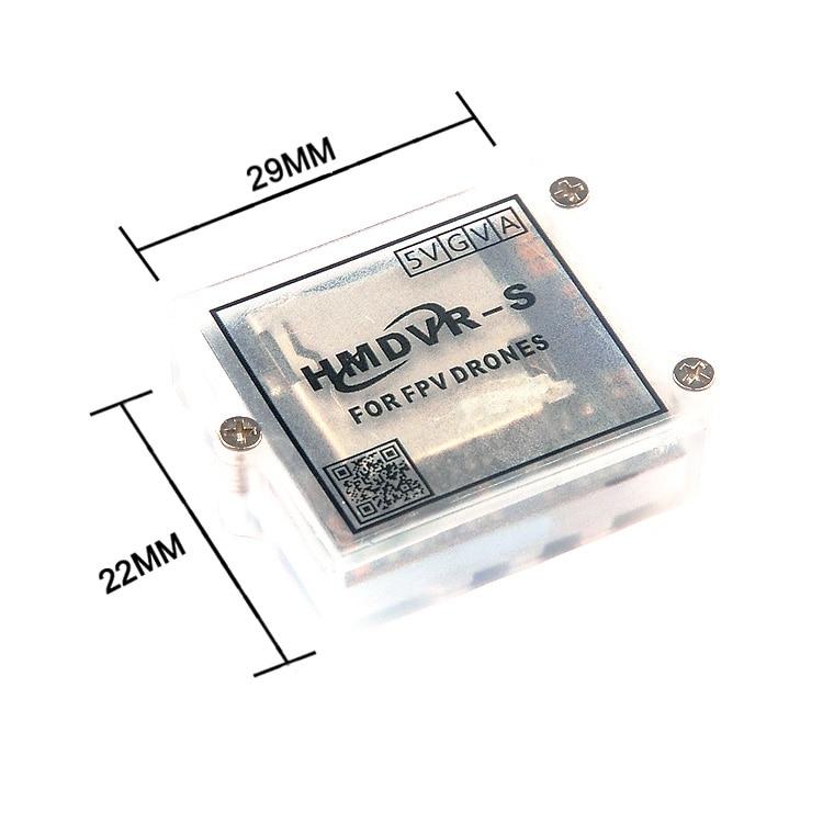 Micro mini HMDVR-S dvr gravador de vídeo para fpv monitor rc quadcopter zangão transmissor de vídeo áudio peças diy