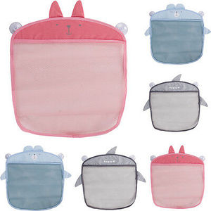 Image 1 - Dessin animé tenture murale sac de rangement sac tricoté bébé filet de bain jouet panier organisateur