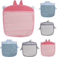 Saco de armazenamento de suspensão de parede dos desenhos animados saco de malha bebê banho net brinquedo cesta organizador