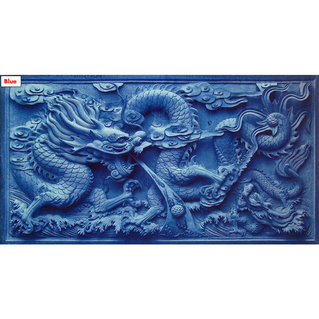 150cm 60cm 3d Background Chinese Dragon Cameo Print Fish Tank