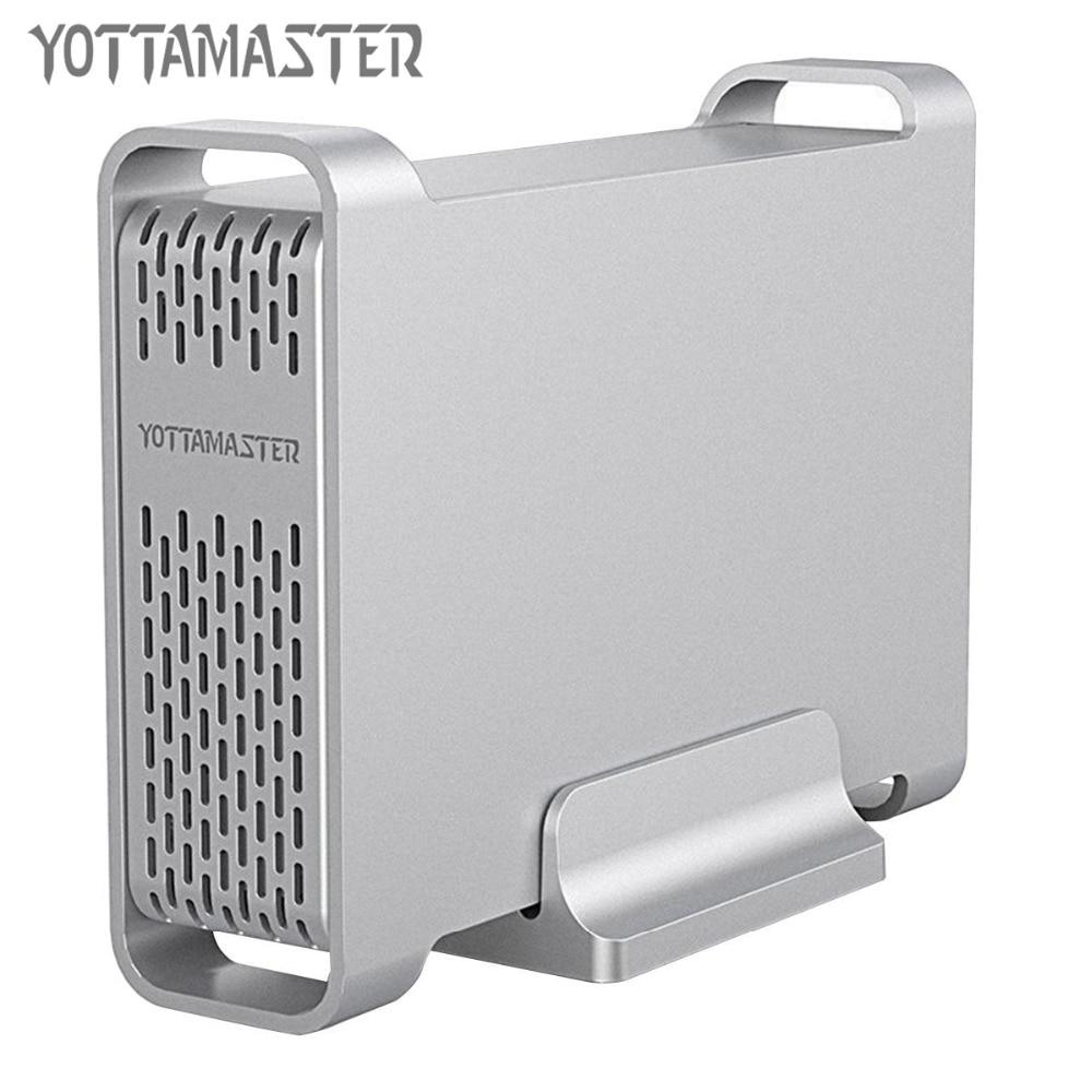 Yottamaster High-end HDD Docking Station 2.5 Inch USB3.0 To SATA Aluminum Hard Drive Disk Case HDD Enclosure Support UASP 4 TB