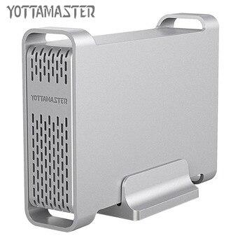 Yottamaster High-end HDD Yerleştirme Istasyonu 2.5 inç USB3.0 SATA Alüminyum sabit disk Kılıfı HDD muhafaza Desteği UASP 4 TB