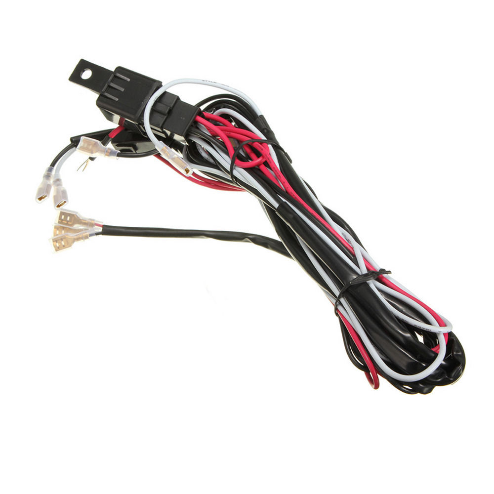 Ee Support 40a 300w Wiring Harness Kit Led Light Bar Laser Rocker Switch Fuse Spot Car Styling Xy01 In Switches Relays From Automobiles
