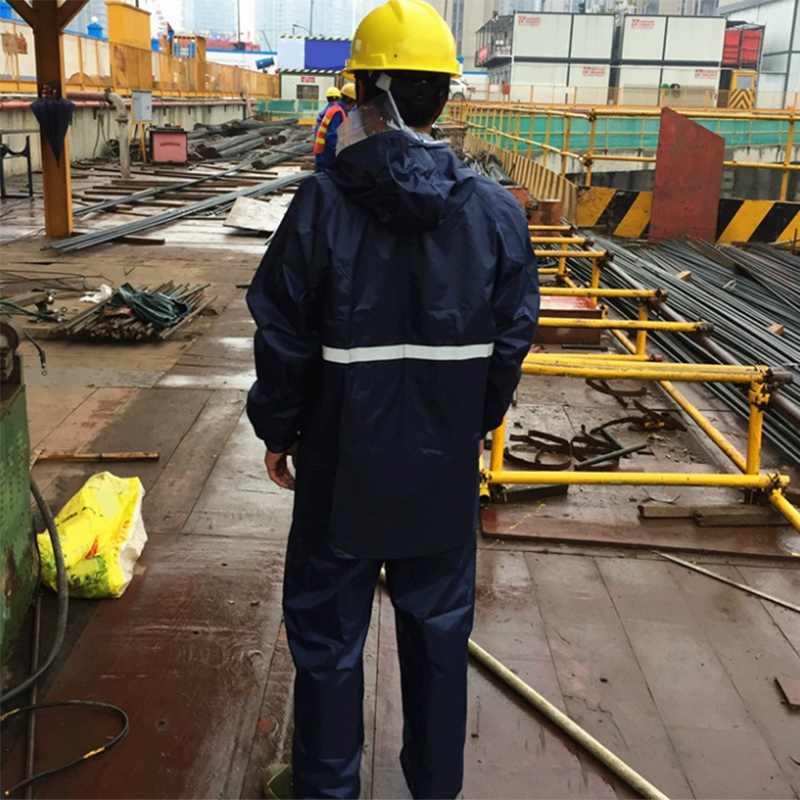 Chubasquero reflectante de calidad-ropa para trabajadores de saneamiento engrosamiento adulto dividido al aire libre a prueba de trabajo overoles resistentes al agua Rai
