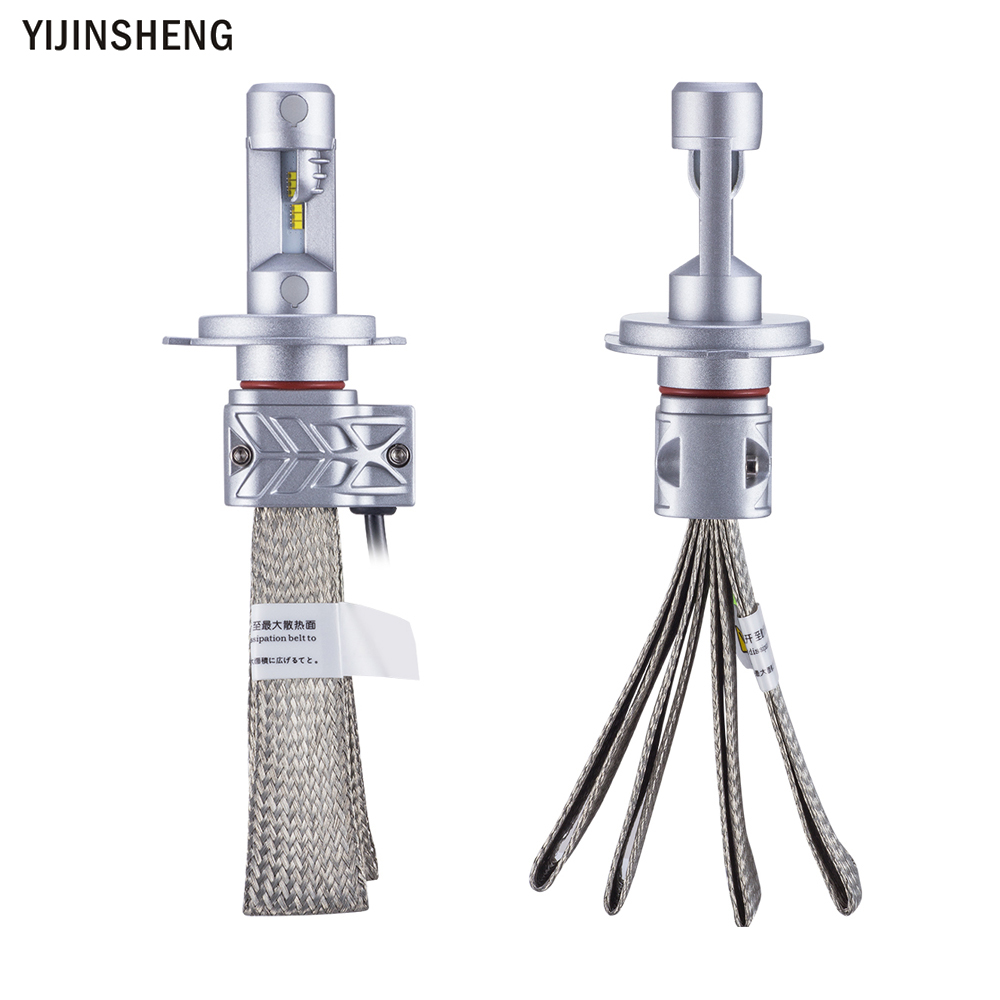 YIJINSHEN 2x Car LED Headlight H4 HB2 9003 Hi/Lo beam headlamp Conversion Kit For Fog DRL Daytime Head Light Source Bulbs gztophid wiring harness extension h4 9003 hb2 light connector male to female for socket headlight fog light drl light