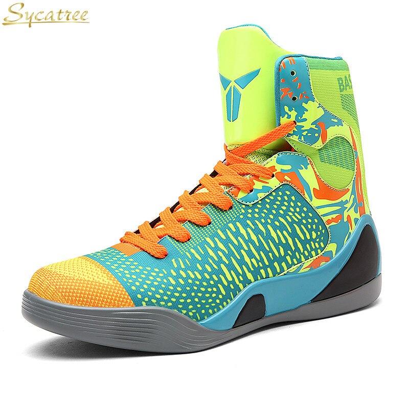 Sycatree basketball pour hommes Chaussures Haut Haut Bottines Sneakers Lebron James Chaussures à lacets Antichoc panier homme baloncesto