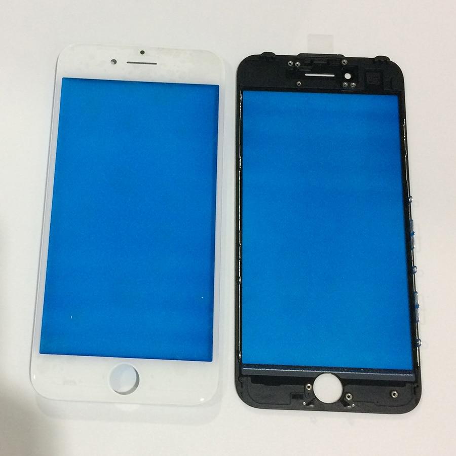 imágenes para 5 Unids/lote Pantalla Táctil LCD Frontal Exterior de la Lente de Cristal Con Marco Asamblea Bisel para iPhone 7 Plus 7 de Reparación de Reemplazo partes