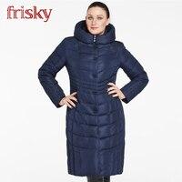 Frisky Новое пальто 2018 Толстые вниз куртки ветрозащитный теплые куртки способа высокого качества Женщины пальто плюс размер Большой размер Бо