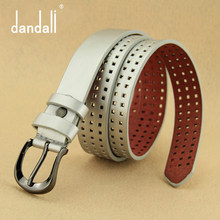 Designer High-grade Fashion Pu Jeans Belts Luxury Hollow Belt Womens Strap For Women Ceinture Femme Off White Waist LeatherBelt(China)
