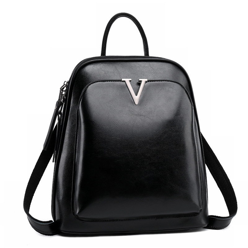 Huile cire cuir dames sac à dos sac à bandoulière en cuir école sac à dos mode rétro femme sac à dos