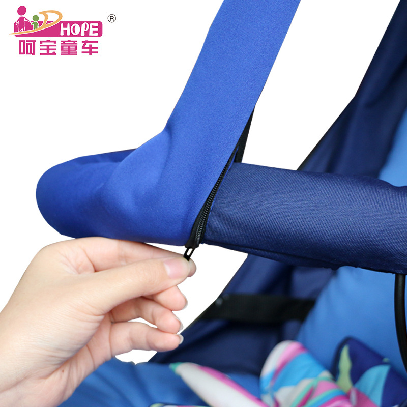 HOPE Baby Stroller Washable Chewable Armrest Cover Protection Handrail Sleeve Umbrella Car Stroller Armrest Zip Cover Removable