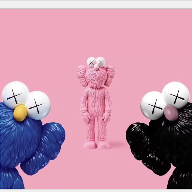 12Inch Medicom Toy KAWS BFF Tide Doll OriginalFake Brian Street Art PVC Action Figure Collectible Model Toy Retail Bags S162 1