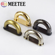 Meetee 5pcs 13mm Metal D Ring Buckle Connection Alloy Shoes Bags Buckles DIY Hardware Accessories Sewing Handmade AP523